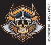 nordic viking vector and logo | Shutterstock .eps vector #1397013434