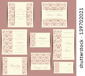 set of wedding invitation cards ... | Shutterstock .eps vector #139702021