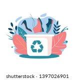 shoe recycling trash can among...   Shutterstock .eps vector #1397026901