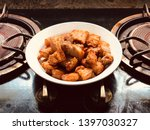 the fried crispy pork belly... | Shutterstock . vector #1397030327