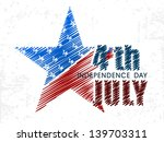 4th of july  american... | Shutterstock .eps vector #139703311