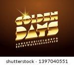 vector elegant card golden days ... | Shutterstock .eps vector #1397040551