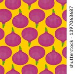 red onion pattern seamless.... | Shutterstock .eps vector #1397063687