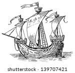 ancient sailboat | Shutterstock . vector #139707421