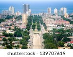 havana downtown  pictured from... | Shutterstock . vector #139707619