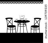 outside cafe | Shutterstock .eps vector #139709335