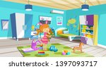 kid children is played in room  ...   Shutterstock .eps vector #1397093717