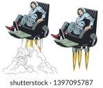 stock illustration. man in...   Shutterstock .eps vector #1397095787