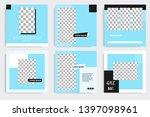 editable square abstract... | Shutterstock .eps vector #1397098961