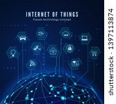 internet of things. iot concept.... | Shutterstock .eps vector #1397113874