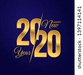 2020 logo happy new year....   Shutterstock .eps vector #1397114141
