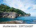 rock shore. sea natural pool... | Shutterstock . vector #1397116187