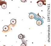 watercolor cute pattern with... | Shutterstock . vector #1397117411