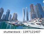sunny day cityscape of dubai... | Shutterstock . vector #1397121407