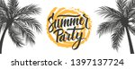 summer party banner. summertime ... | Shutterstock .eps vector #1397137724