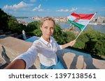 enjoying vacation in hungary.... | Shutterstock . vector #1397138561