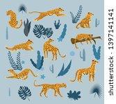 set of leopards in various...   Shutterstock .eps vector #1397141141