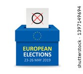 voting box with the text... | Shutterstock .eps vector #1397149694
