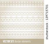 vector set of border elements... | Shutterstock .eps vector #139715701