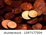 Copper Money In 2 And 1 Euro...