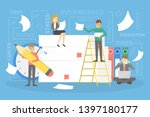 stack or pile of paper with... | Shutterstock . vector #1397180177