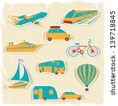 set of tourist transport... | Shutterstock .eps vector #139718845