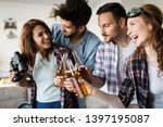 group of happy young friends... | Shutterstock . vector #1397195087