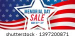 memorial day sale banner vector ... | Shutterstock .eps vector #1397200871