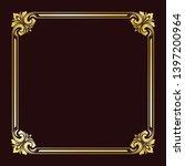 decorative frame in vintage... | Shutterstock .eps vector #1397200964