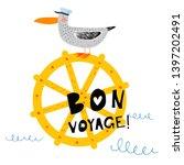 summer nautical card. ship's... | Shutterstock .eps vector #1397202491