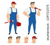 funny plumber mascot in...