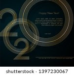 gold lines 2020 new year on a... | Shutterstock .eps vector #1397230067