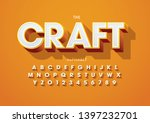 vector of stylized modern font... | Shutterstock .eps vector #1397232701