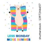 less monday more summer... | Shutterstock .eps vector #1397246657