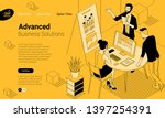 black and yellow flat design... | Shutterstock .eps vector #1397254391