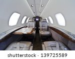 inside of small business jet | Shutterstock . vector #139725589