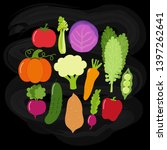 cute vegan menu background as...   Shutterstock . vector #1397262641