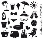 set of beach icons. | Shutterstock .eps vector #139726315