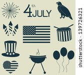 icons for independence day. | Shutterstock .eps vector #139726321