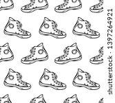 sneakers. summer footwear.... | Shutterstock .eps vector #1397264921