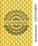 gold membership shiny golden... | Shutterstock .eps vector #1397276897