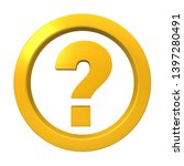 question mark icon... | Shutterstock . vector #1397280491