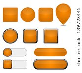 vector set of  orange web... | Shutterstock .eps vector #139728445