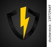 shield emblem on grey ...