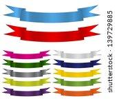 ribbon set. vector illustration | Shutterstock .eps vector #139729885