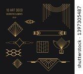 set of art deco design elements.... | Shutterstock .eps vector #1397305487