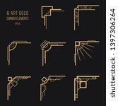 set of art deco corner elements.... | Shutterstock .eps vector #1397306264