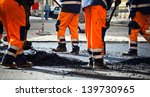 Workers On A Road Construction...