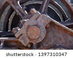 close up of old brown rusty... | Shutterstock . vector #1397310347