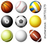 sport balls on white background.... | Shutterstock .eps vector #139731175